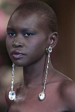 yves saint laurent fashion runway model alek wek jewelry couture uploads