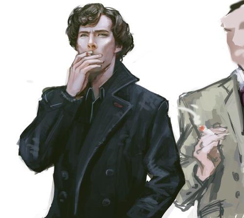mstrmagnolia:a couple of old & new Sherlock art #bbc sherlock
