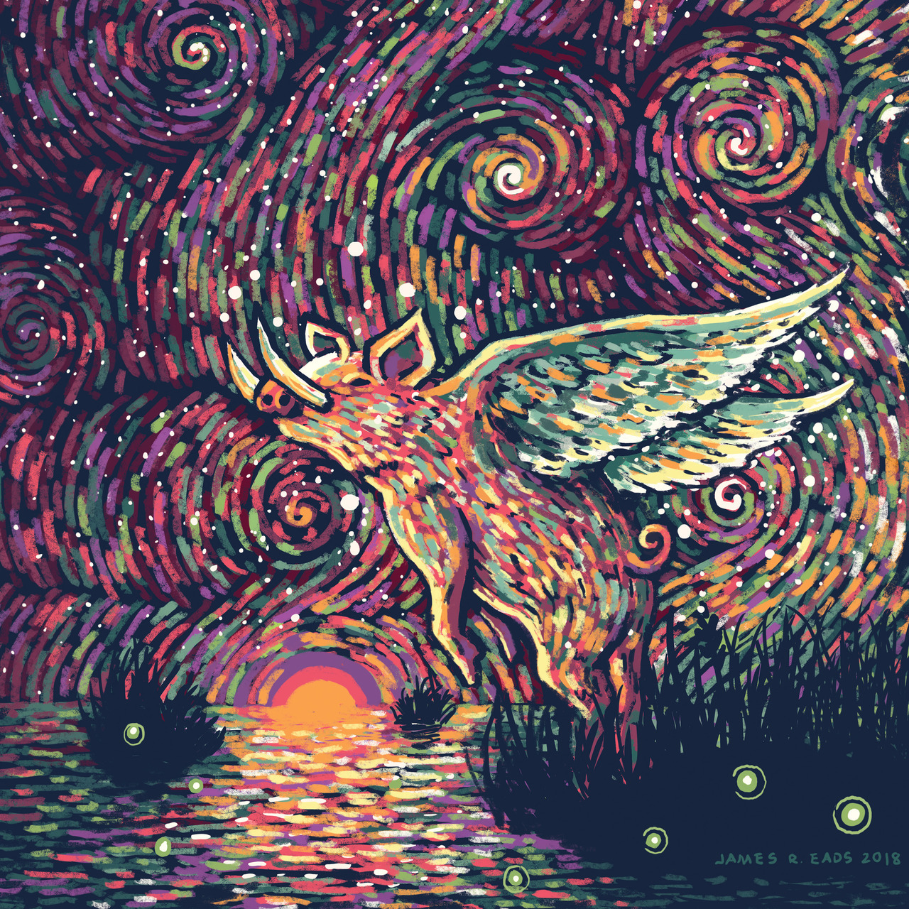 JAMES R  EADS - the winged boar might look pretty ugly on the