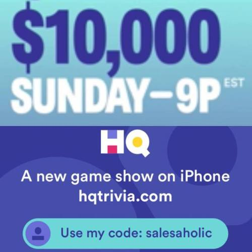 Hurry and sign up! If you haven't tried it yet, HQ