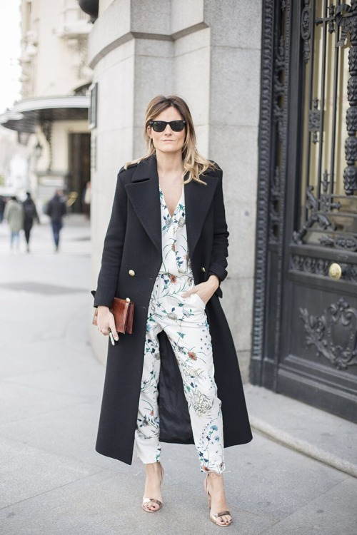 flower print trend military coat floral style jumper spring fashion trends
