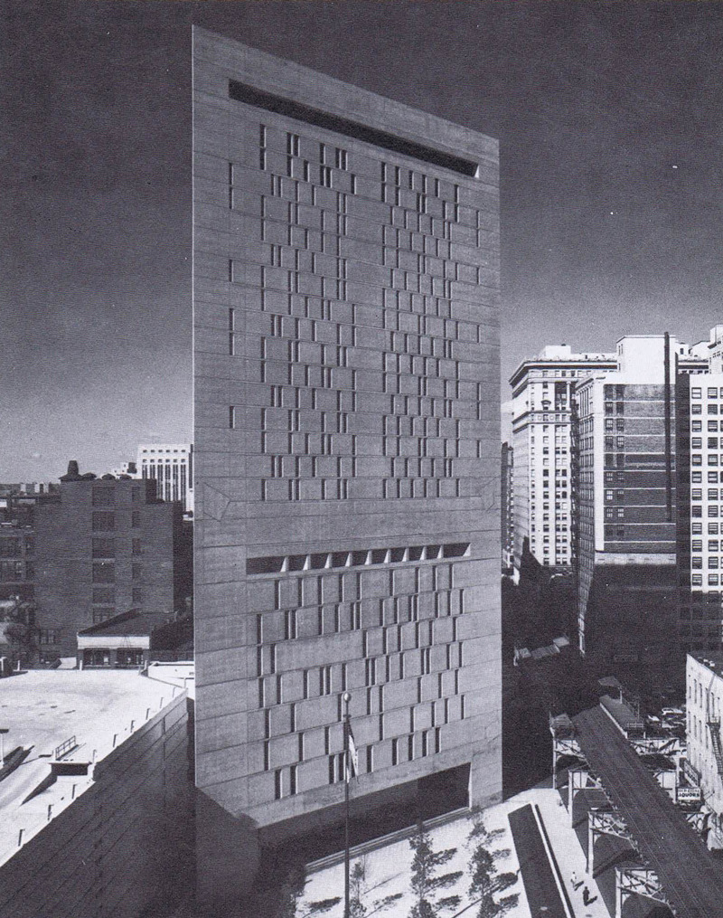 Campbell U.S. Courthouse Annex (1971-75) in Chicago, USA, by Harry Weese & Associates