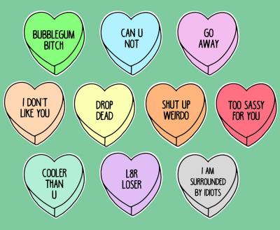 Rude Conversation Hearts Tumblr