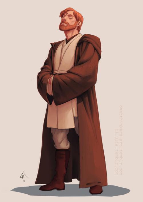 I don't really need an excuse to draw Obi-Wan Kenobi, but it was fun to give myself one. #prompt 3 #fave fictional character #obi-wan kenobi#kenobi#lias art #obi wan kenobi
