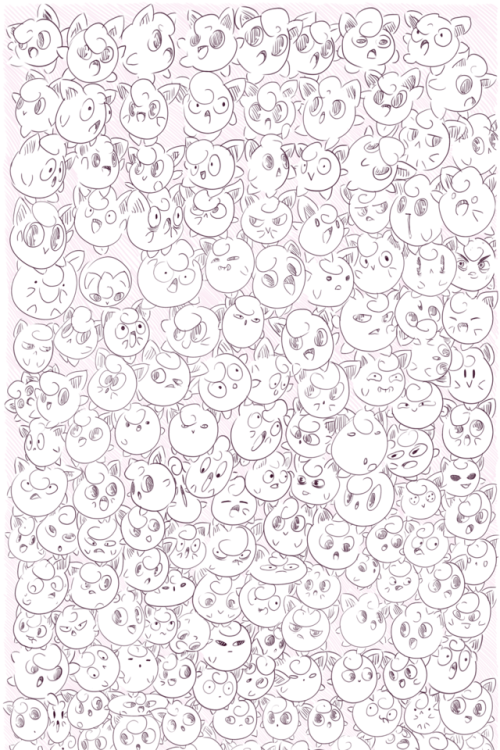 HAPPY NEW YEARS!! jigglypuff pokemon doodles n& 039; such new years long post tag yourself i& 039;m puff number 618