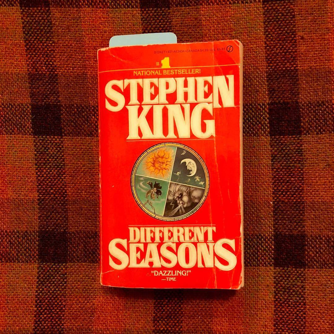 "I'm currently reading Stephen King's short story collection ""Different Seasons."" I'm a huge sci-if and horror fan, but, outside of a few exceptions (like the ""Dead Zone""), I've never been taken by King. I love the stories, but I find the writing style a little too long-winded. Fingers crossed for this one. 🤞 (at Seattle, Washington)"