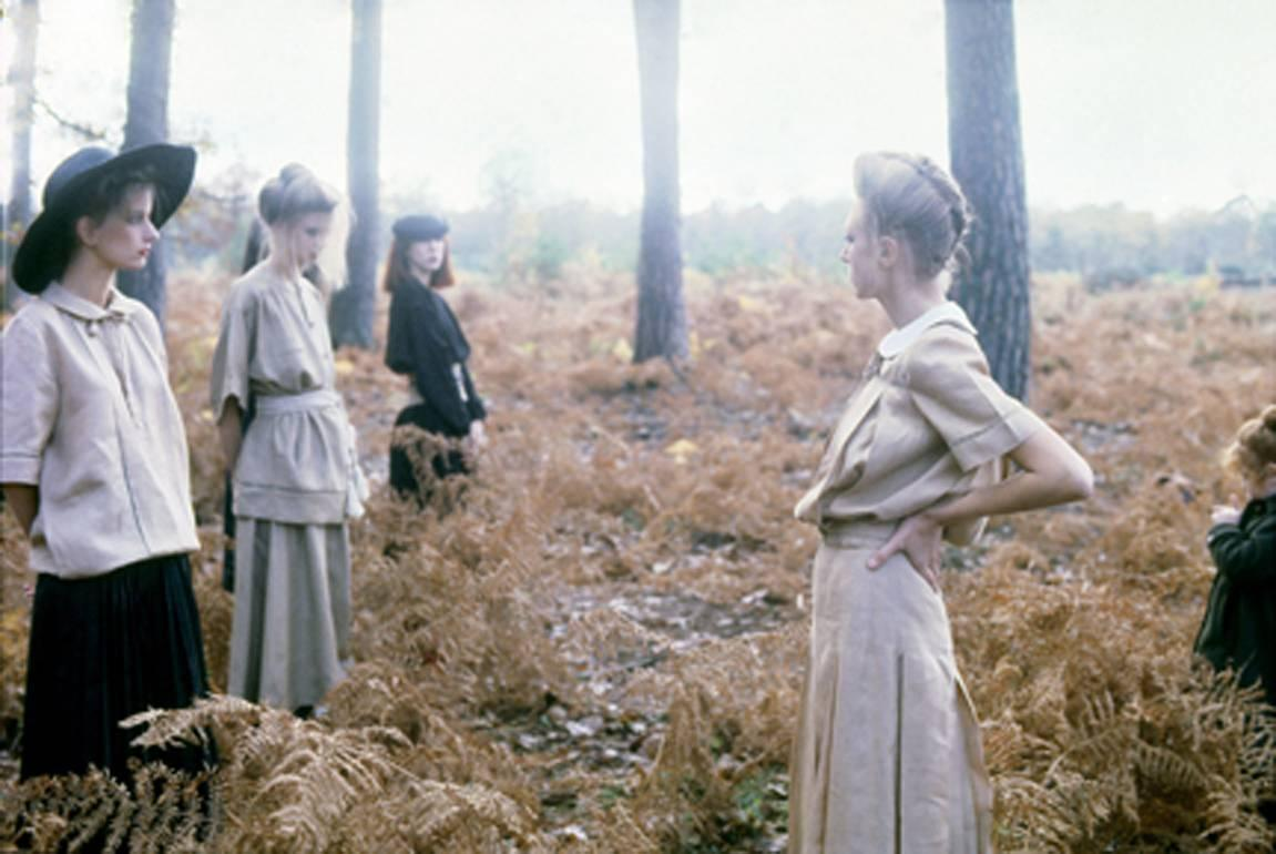Valentino Fashion, Normandy, VOGUE Italia, 1978. Deborah Turbeville. Archival Pigment