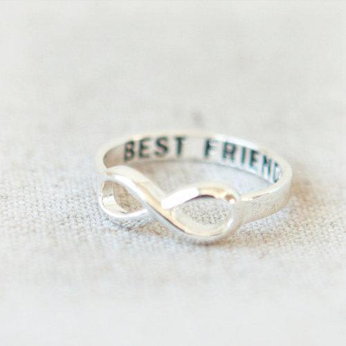 love best friends infinity cute rings