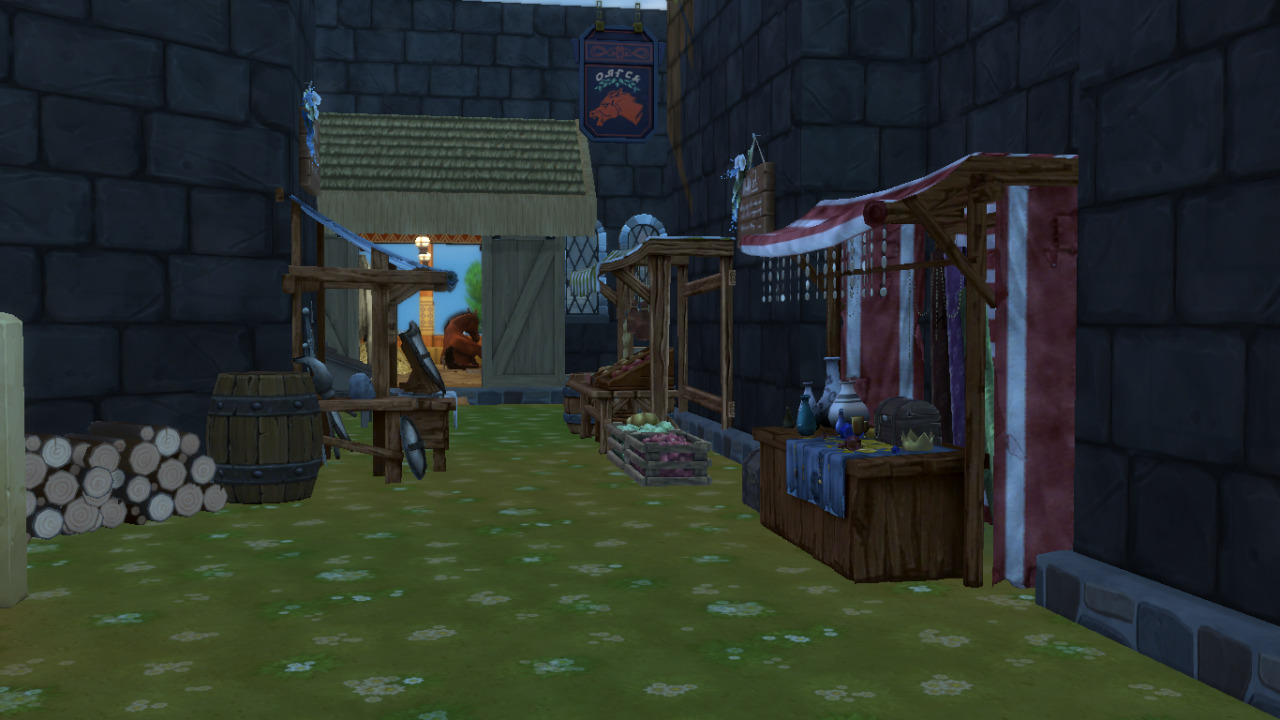 WIP Skyhold Build #day#da2#dai#dragon age #dragon age inquisition #skyhold#sims4#sims4 builds#wip