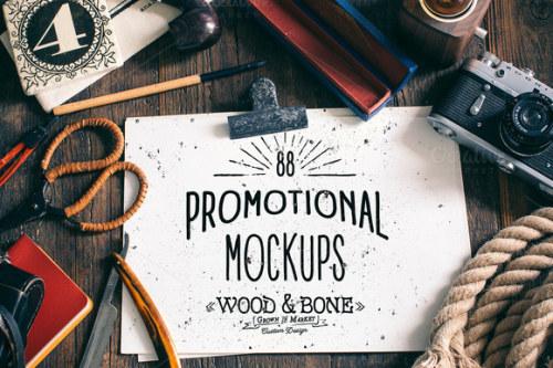 Wood&Bone Promotional Mockups by Chrisb Marquezdownload it here:http://crtv.mk/t0EUG