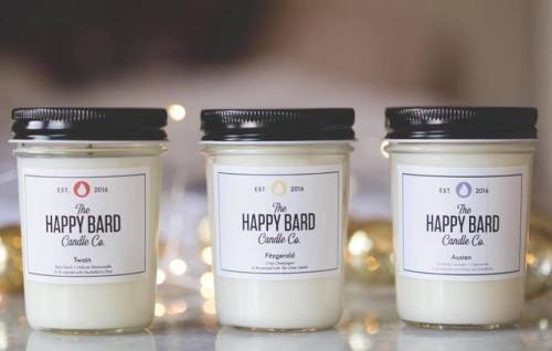 Jane Austen Mark Twain F Scott Fitzgerald must have literary candles candles The Happy Bard Candle Co. books