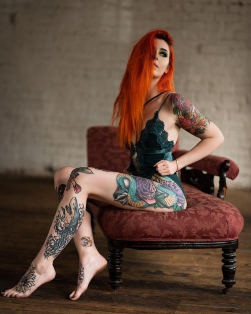 tattoos tattoo tattooed girl red hair inked girl