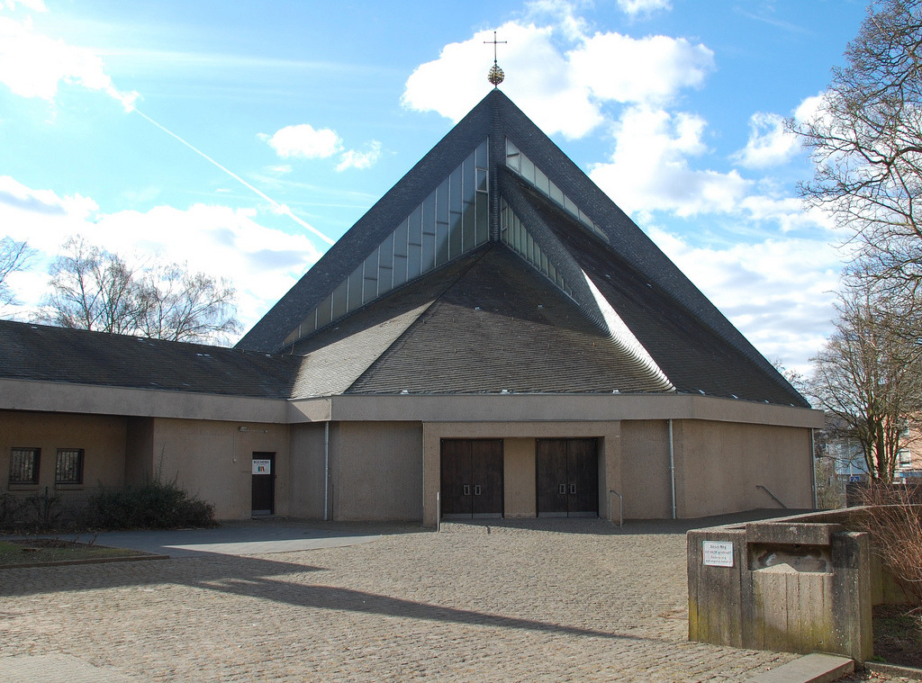 Church St Agritius (1971) in Trier, Germany, by Karl Peter Böhr