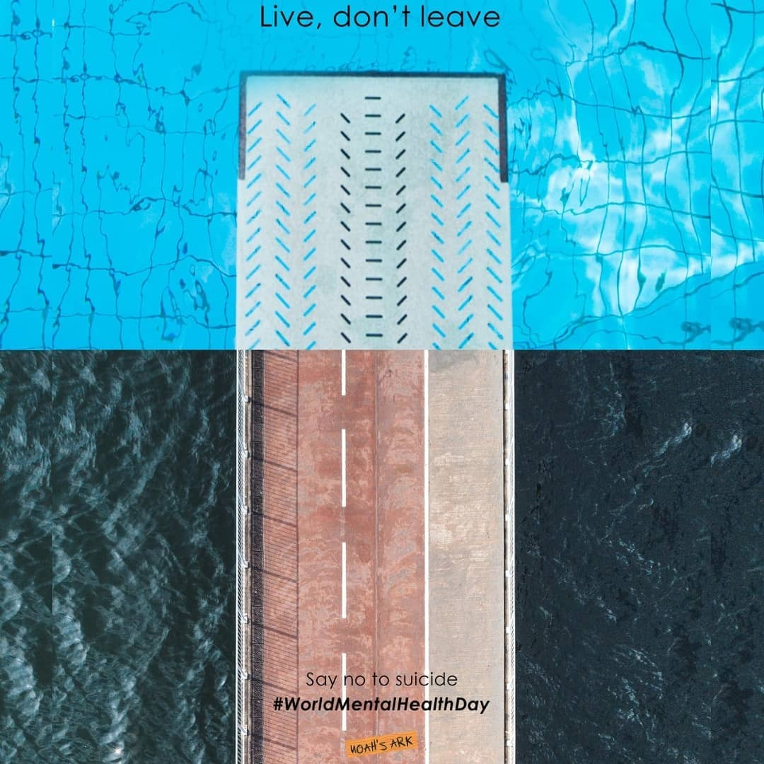 Live, don't leave!Instead of drowning yourself to death dive in to swim, relax and enjoy says this ad. Depression is a leading cause of suicide in young people. To mark this World Mental Health Day, this self promo ad from Noah's Ark hinges on hope, encouraging people on the brink of suicide to embrace life and the bits of happiness around it.Go to adaddictive.com.You will find more awesome ads #adaddictive#ad#adaddict#adaddiction#Adcampaign#Adcampaigns#Adlife#adoftheday#anxiety#anxietyawareness#anxietysupport#breakthestigma#depression#depressionawareness#depressionhelp#endstigma#invisibileillnessawareness#invisibleillness#itsoknottobeok#mentalhealth#mentalhealthawareness#mentalhealthmatters#mentalhealthsupport#mentalillness#mentalillnessawareness#ptsd#ptsdawareness#stopthestigma#suicideprevention