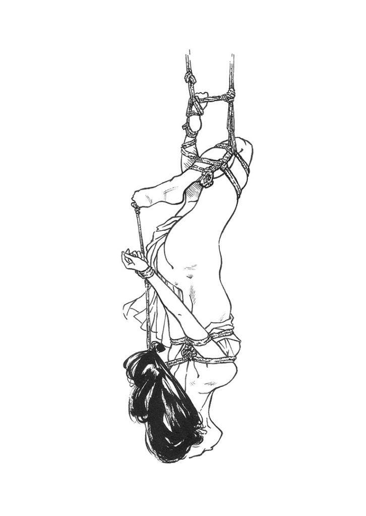 Traditional japanese bondage drawings