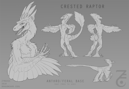 anthro furry adoptable raptor feathered dinosaur