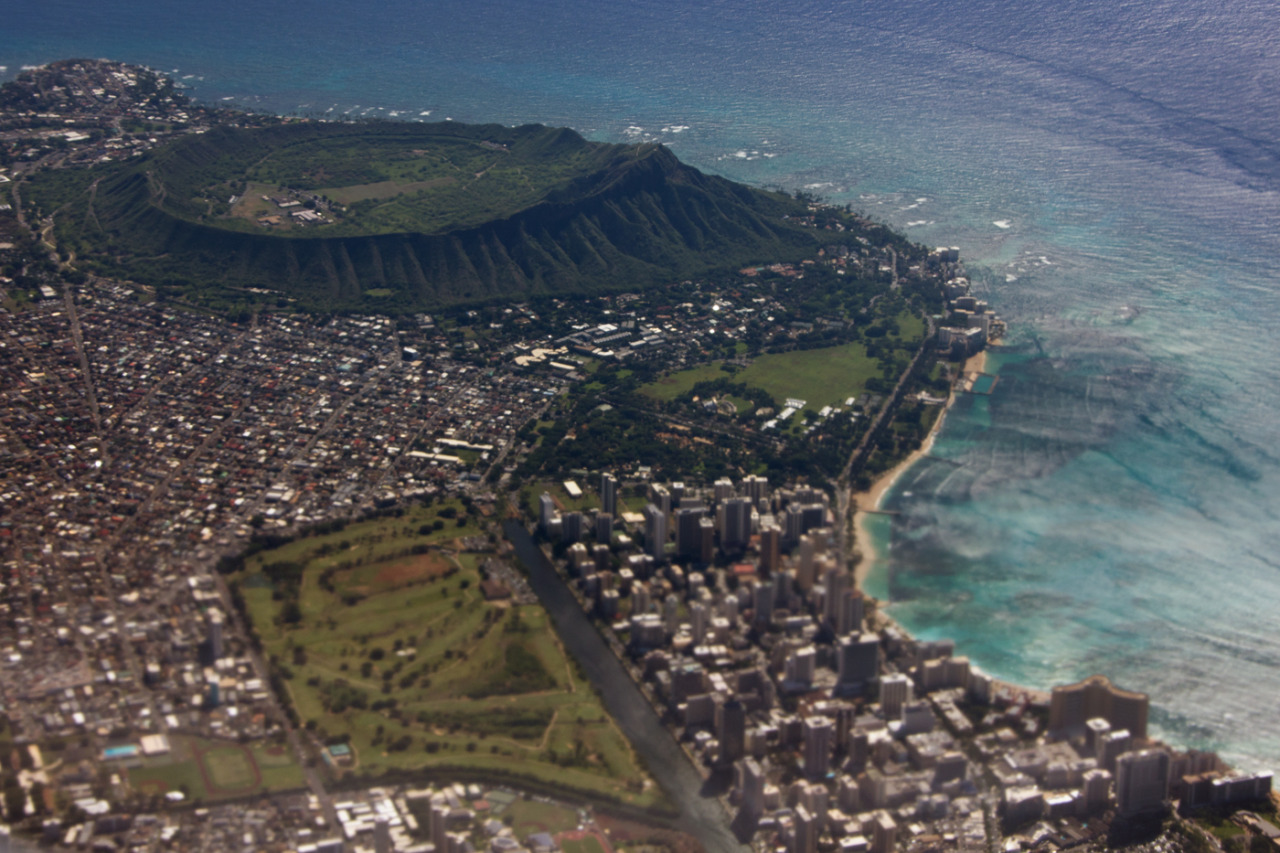 Diamond head crater and waikiki