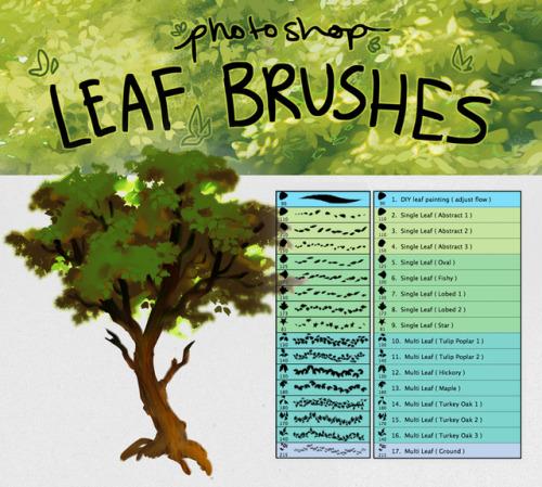 foliage brush | Tumblr