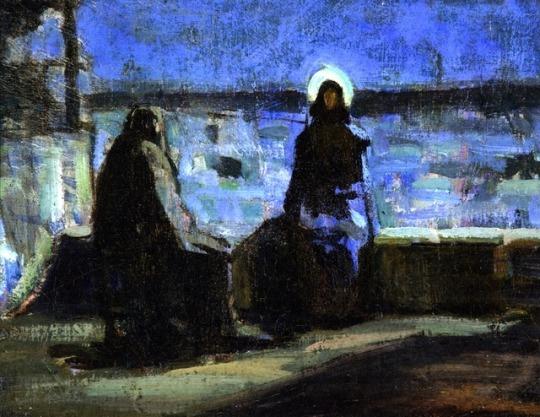 Study for Nicodemus Visiting Jesus, 1899, Henry Ossawa Tanner