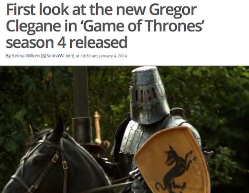 Gregor Clegane Season 1 Vs Season 2