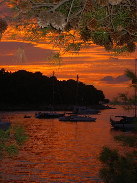 Dalmatian sunset in Cavtat, Croatia #holiday#europe#fun#water#kroatien