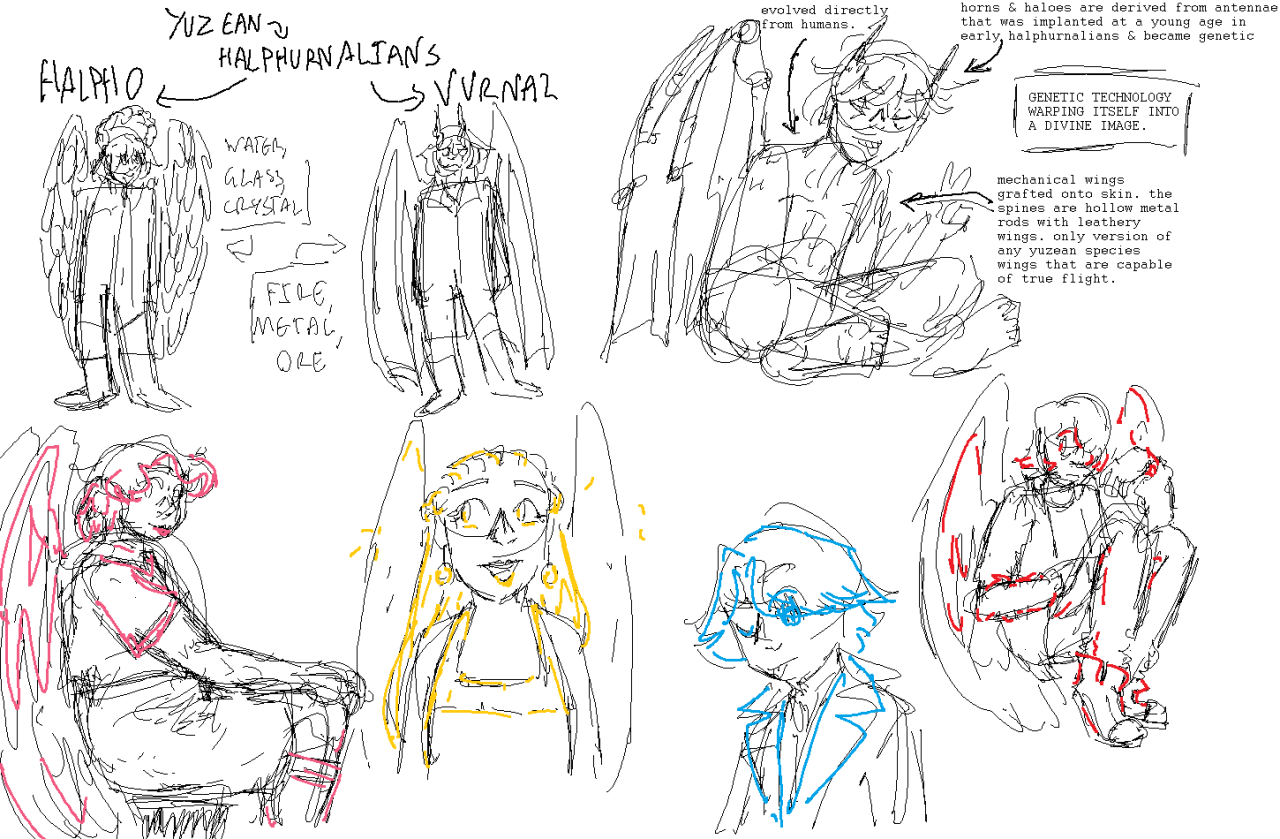 couple of sketchsheets from this month #mspaintings#ocs #guardians of the galaxy