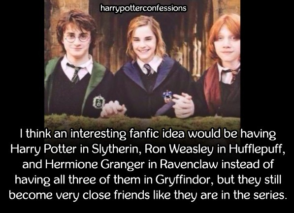 harry potter confessions  — I think an interesting fanfic