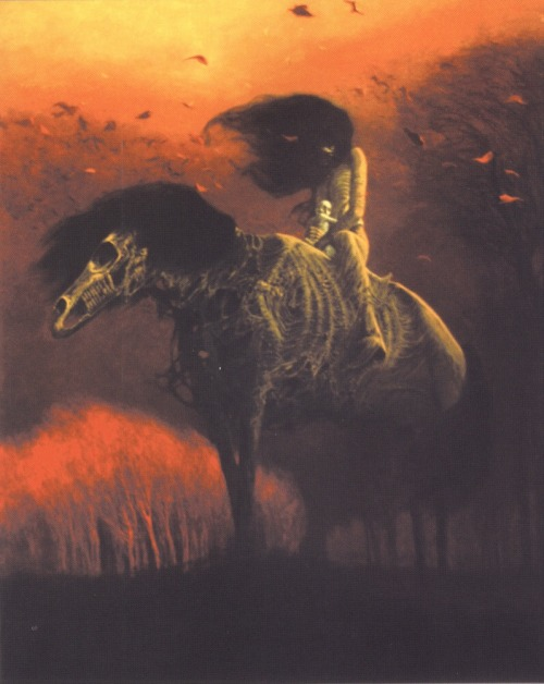Zdzisław Beksiński art surreal apocolypse horse horse with no name Poland polishgirl