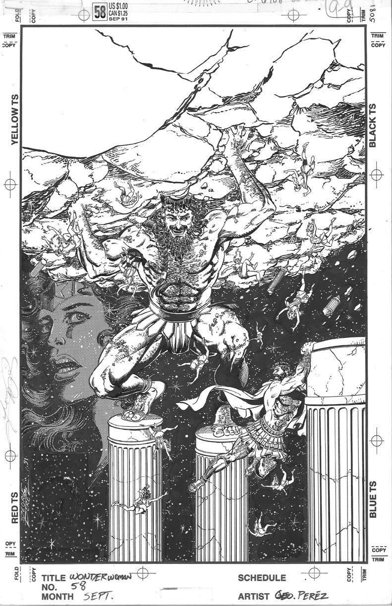 The Bristol Board Atlas Shrugged Original Cover Art By