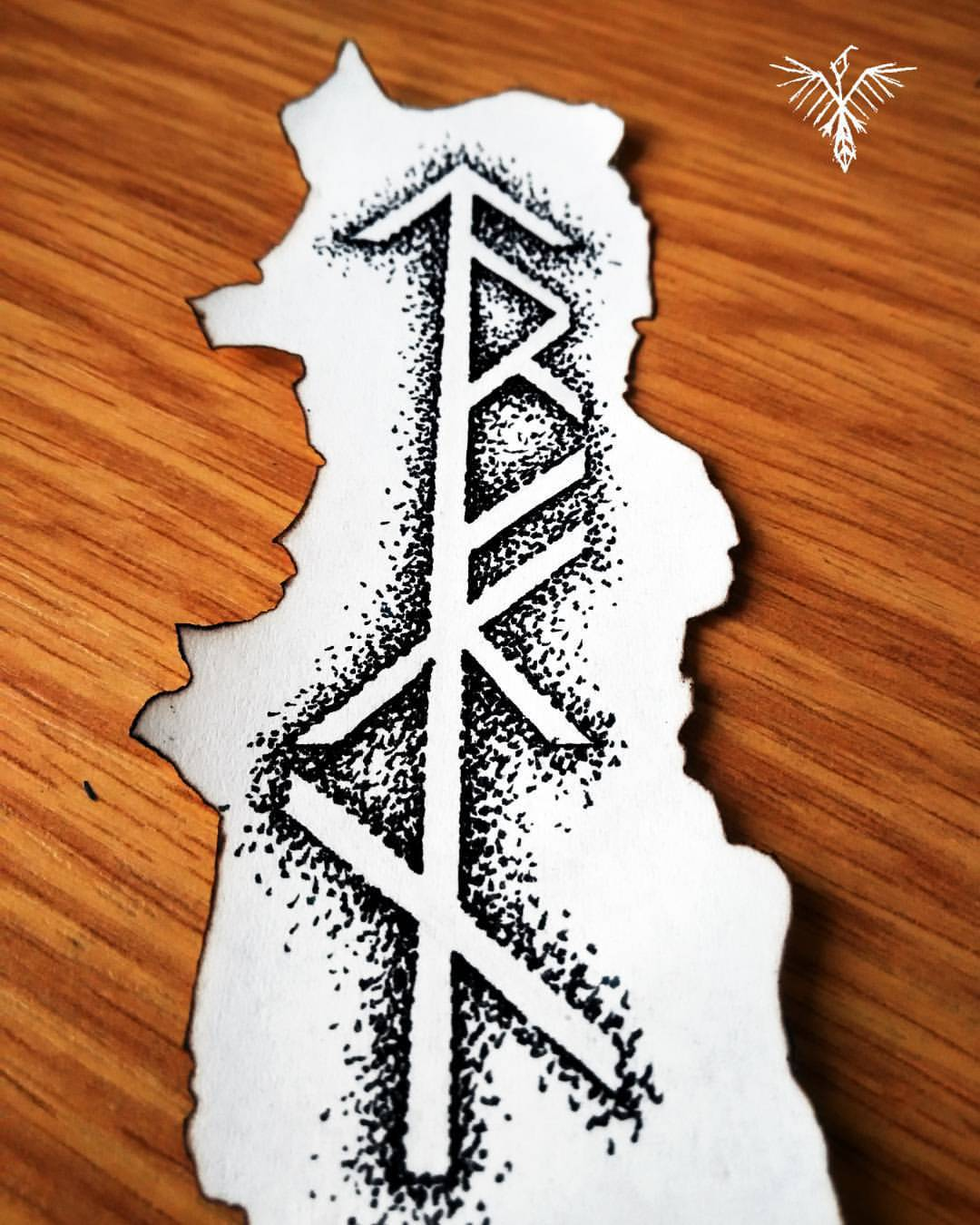 The Raven From The North Custom Bind Rune Design Drawing