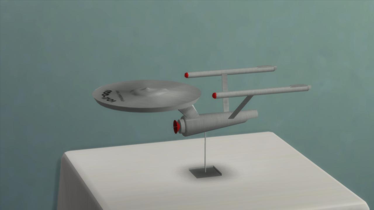 Closeup of the star ship