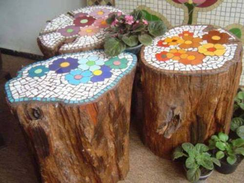 upcycle reuse repurpose dyi crafts old stumps