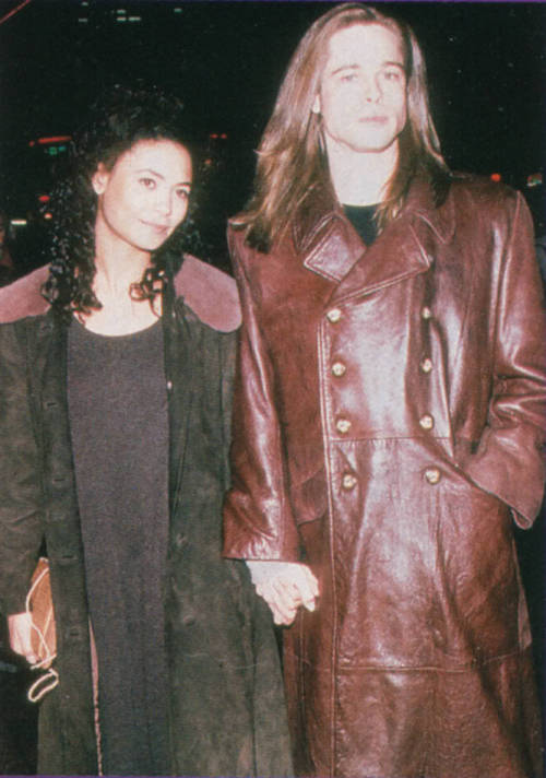 brad pitt thandie newton interview with the vampire vampire vampire movie movies cinema film couples hollywood couples 90& 039;s leather coat anne rice