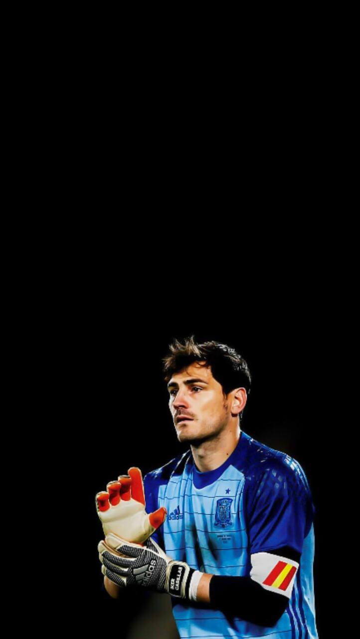 "96bda176bae xfootballlockscreensx: "" Iker Casillas Lockscreen. Source for original  picture: @tereozil """