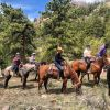 AD Horse riding in the Arapaho National Forest with the lovely wranglers from @sundancetrailguestranch