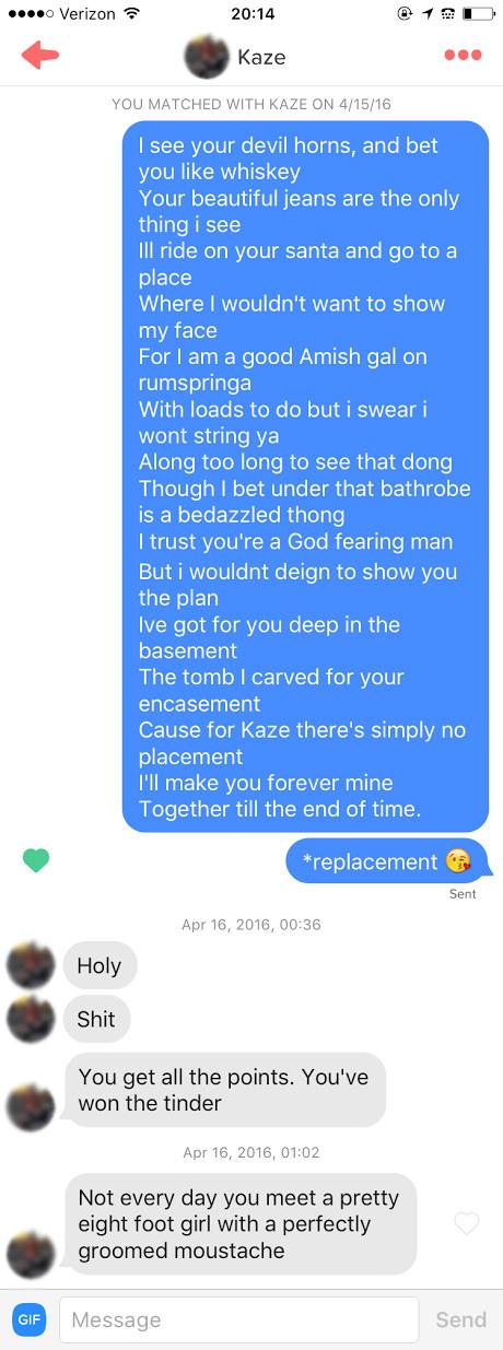 Online dating pick-ups