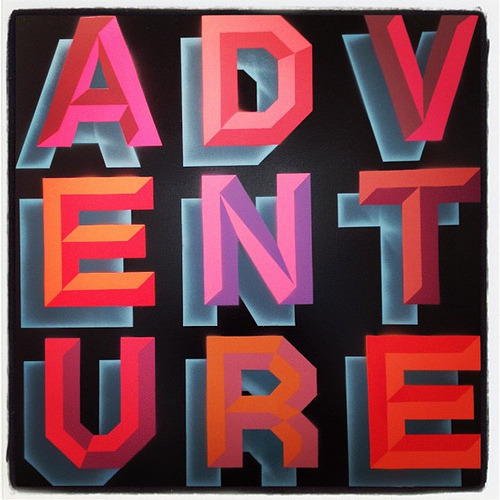 Cool #typography work by Ben Eine