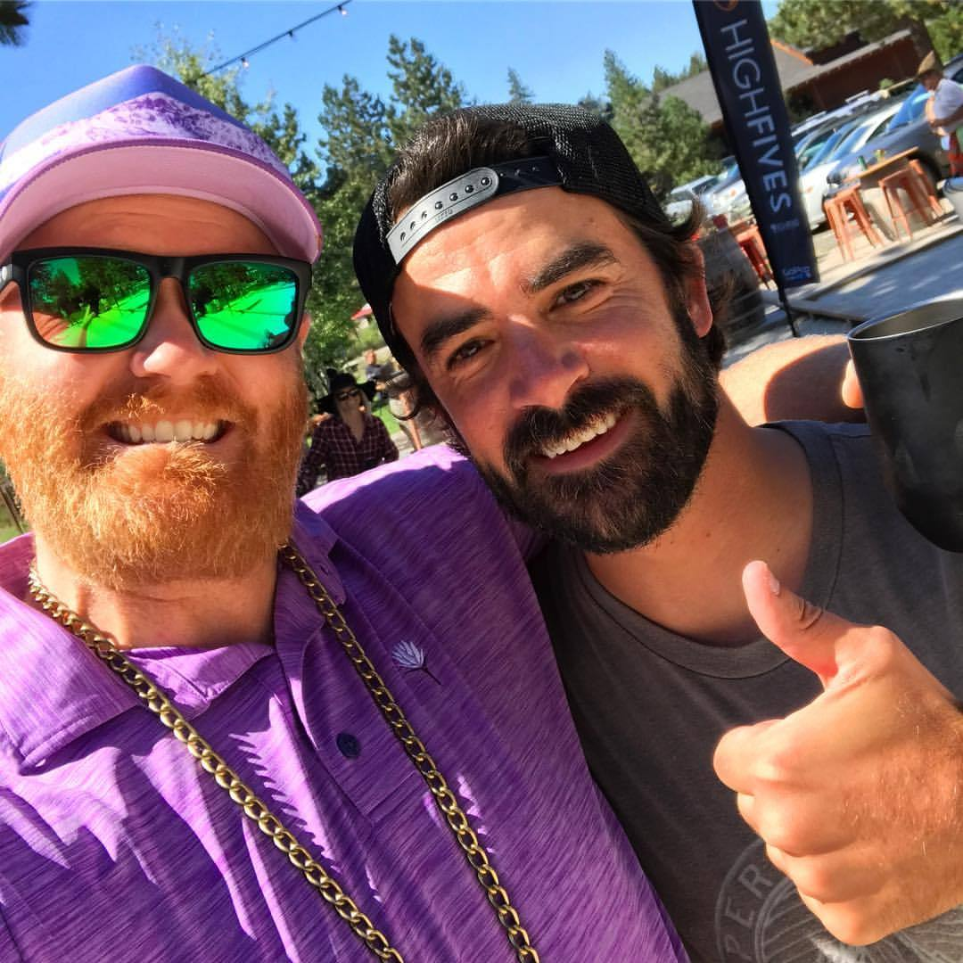 High Five to Mr. Selfie Steve Wallace at the 9th Annual @hi5sfoundation Bocce Tournament! (at Truckee River Winery)