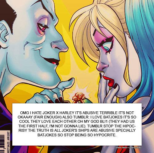 #confession#The Joker#Harley Quinn