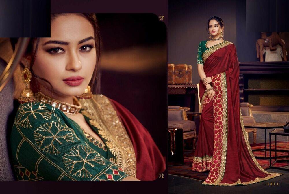 Indian New Designer Saree Sari and Blouse Piece Ethnic women Party Wear 8158 6 #fashion#moda#women#dress#clothes