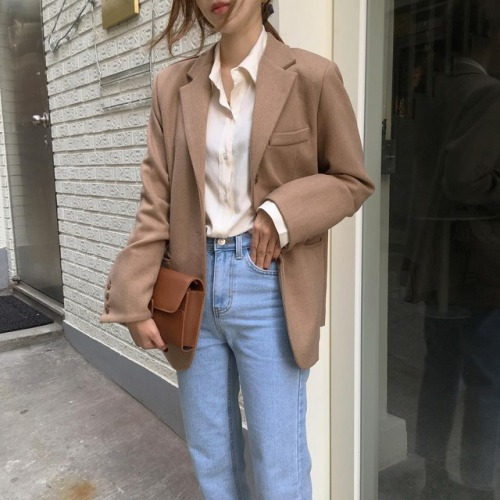 blue jeans blazers Korean fashion kstyle outfit ideas