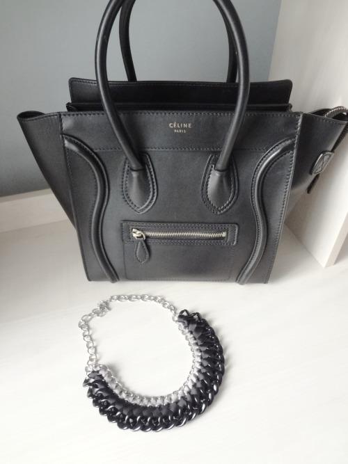 celine celine paris handbag accessories fashion zara necklace stradivarius jewelry luggage phantom bag black and white black photos paris