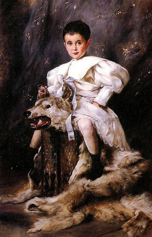 1890s Joseph Arpad Koppay – Portrait of Karl, Archduke Of Austria (future Karl I, last Emperor of Au…