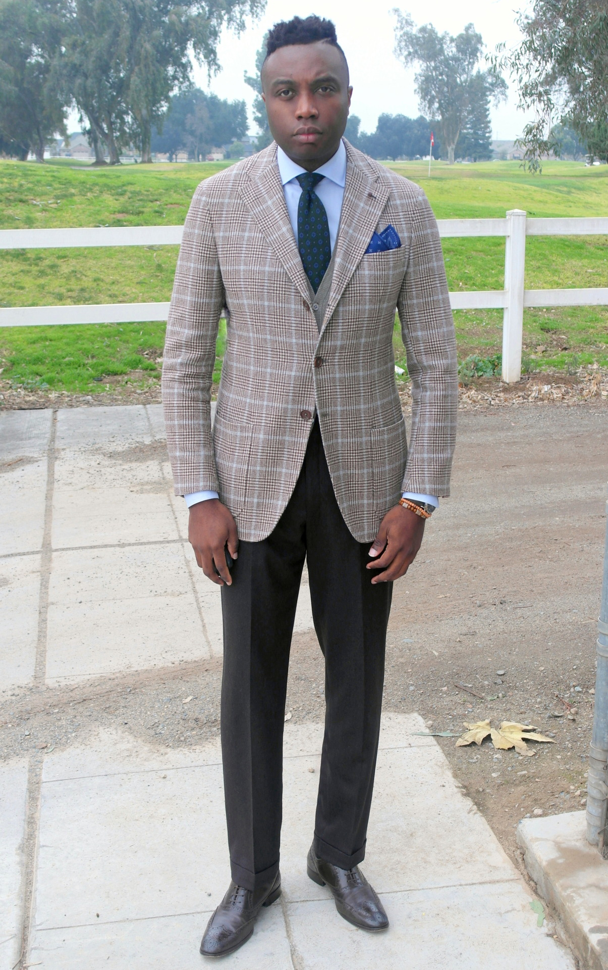 Flannels and wool in this shade of brown, blue and green..BLAZER: isaia(flannel)..SHIRT: eton..TIE: isaia napoli..CARDIGAN: suit supply..PANTS: hickey freeman (flannel)..SHOES: church's..POCKET SQUARE: nordstroms.. #isaia#Suit Supply#hickeyfreemen#nordstromstyle#churchs#Eton#suit#Suitup#bespoke#custom#fashion#menswear#menstyle#mensfashion#designer#GQ#GQstyle#GQmen#instafashion#instalike#instagood#ootdfashion#ptoman#style#WIWT#styleinspiration#styleinspo#Lookbook#lookoftheday#ootdmen