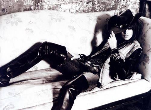 Trish Goff leather leather boots black leather thigh high boots leather jacket Equestrian B&W