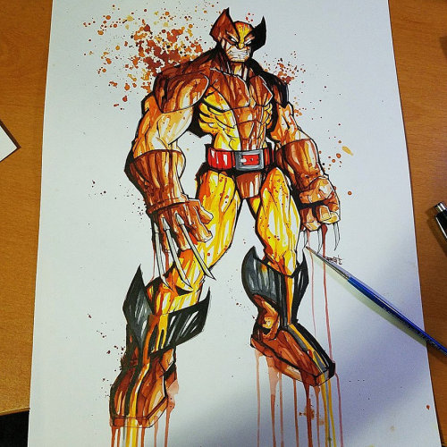 Awesome Wolverine Art Created By Rob Duenas