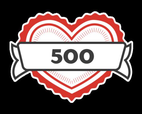 500 likes tumblr milestone