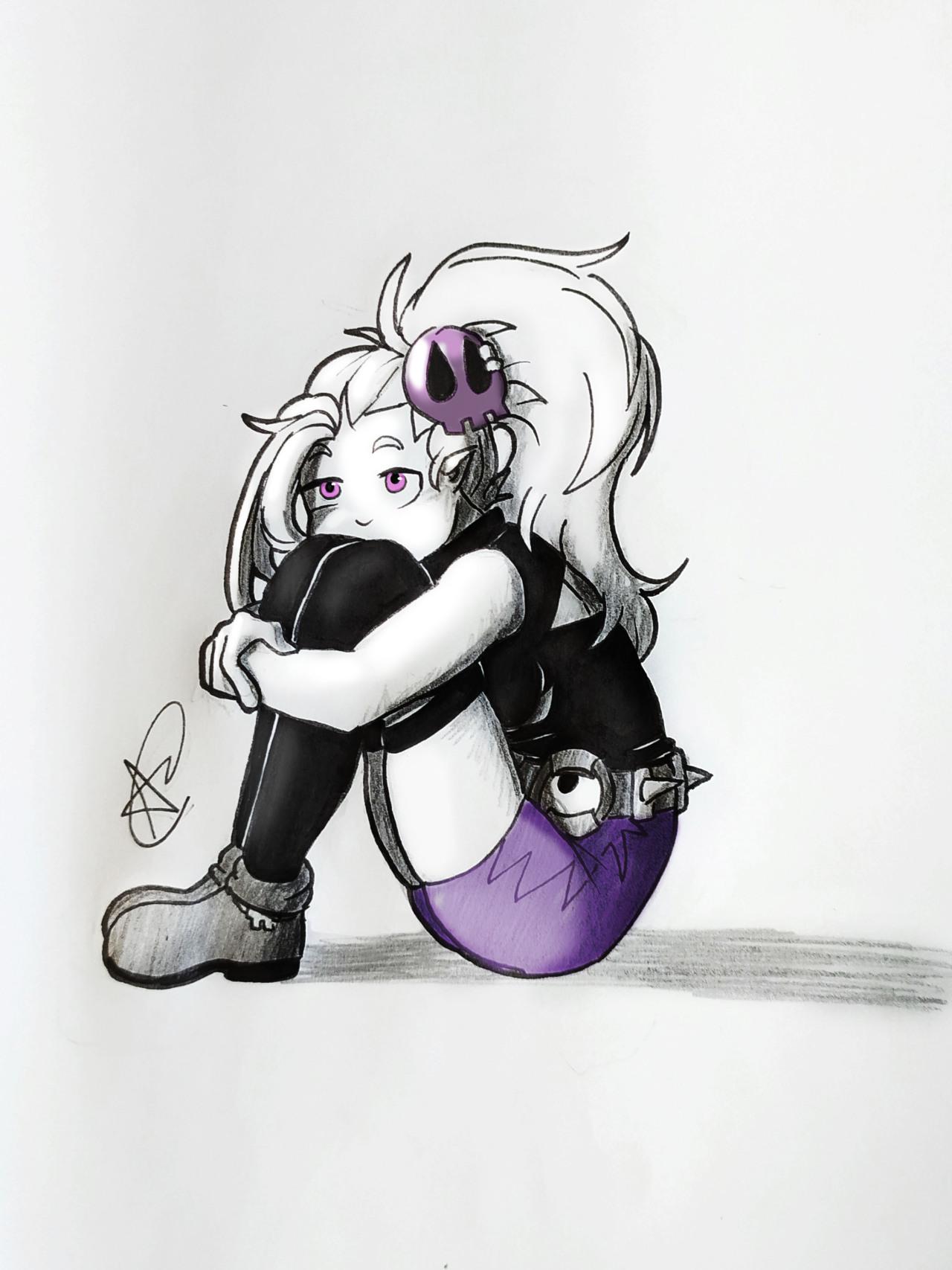 Violet #wakfu#wakfuoc#sram#purple#violet#color#sittingpose#sitting#sketch#inkdrawing