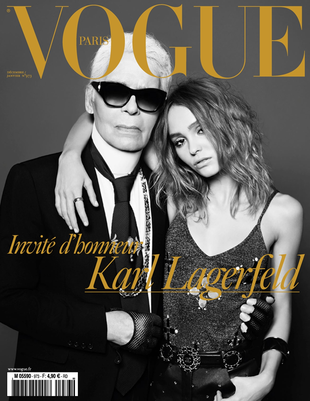 Karl Lagerfeld and Lily Rose Depp for Vogue, 2016