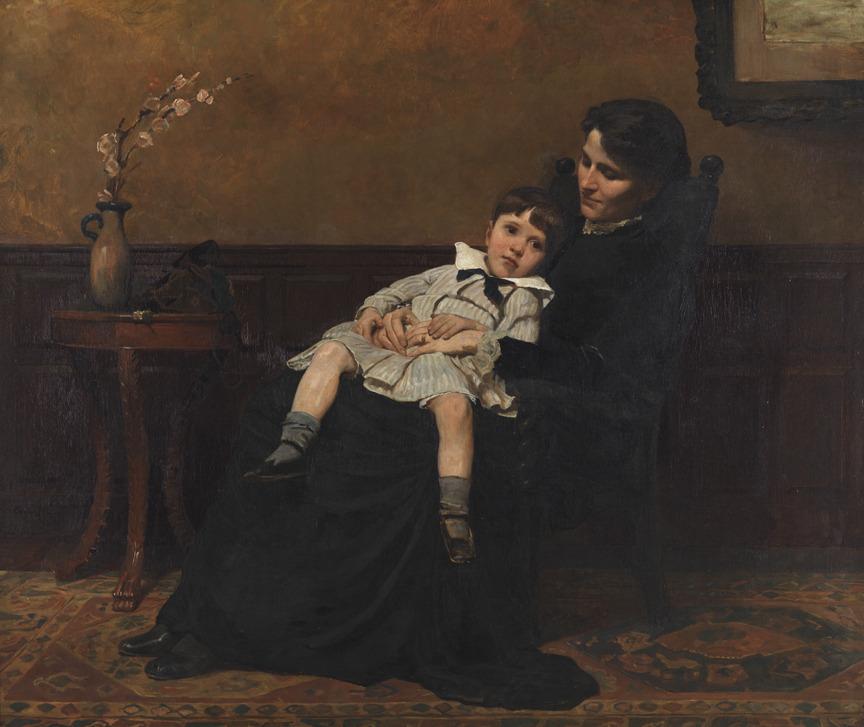 """Cecilia Beaux - """"Los últimos días de la infancia"""" (1883-1885, óleo sobre lienzo, 116 x 137 cm, The Pennsylvania Academy of the Fine Arts, Philadelphia) Cecilia Beaux (1855-1942) es otra de esas grandes artistas que fueron famosísimas en su época y de..."""